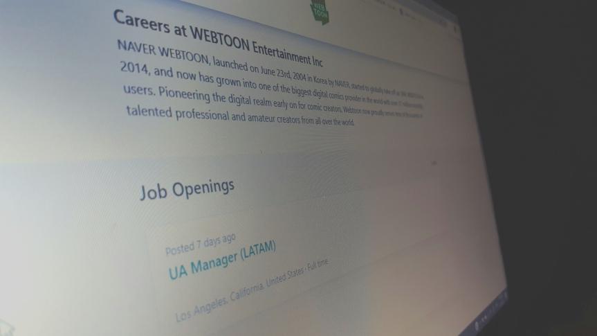 Webtoon Job Openings